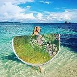 prunushome Premium Beach Towel Flower Tropical