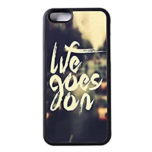 """SnapMade(TM) Customized iPhone 6 Case - Life Goes On Cover Case for iPhone 6 4.7"""" Case (Black)"""
