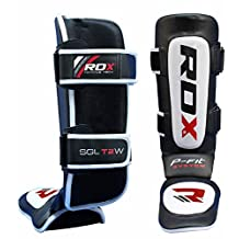 RDX Leather MMA Shin Instep Guard Leg Pads Muay Thai Boxing Training Protective Gear Kickboxing