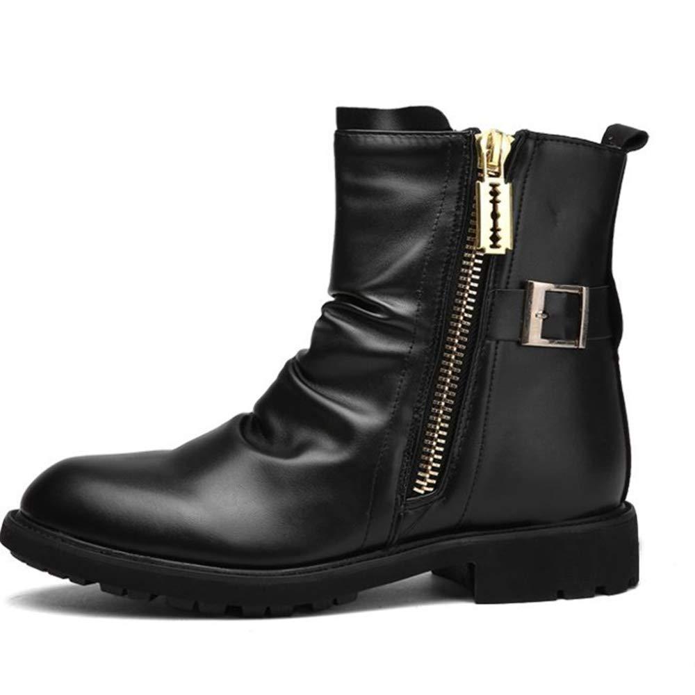 DAN Herrenstiefel Winter Martin Stiefel Trend High High High Stiefel Leder Kuhfell Warme Schneeschuhe Reisen Zu Fuß fe6b75