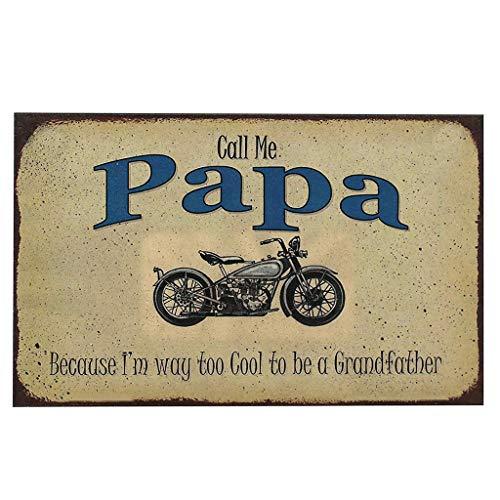 Weiliru Call Me Papa Iron Sign Yard Sign Signage Patio Decorative Signs