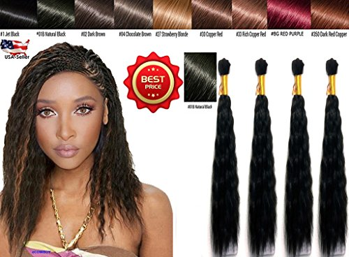 Wet N Wavy Bulk hair QUALITY HAIR Micro Braiding Super Bulk Style 2 Pack (4 Bundles) DEAL Length 18