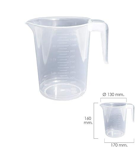 Oryx 5071020 Jarra Medidora Plástico Apta Microondas 1 Litro
