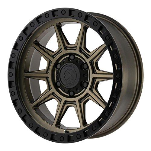 ATX SERIES Custom Wheel Rim AX202 Matte Bronze with Black Lip (17″ x 9″, -12 Offset, 6×139.7 Bolt Pattern, 106.25 mm Hub)