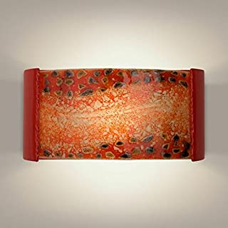 product image for A19 Ebb and Flow Wall Sconce, 3.75-Inch by 14-Inch by 7-Inch, Matador Red/Multi Fire