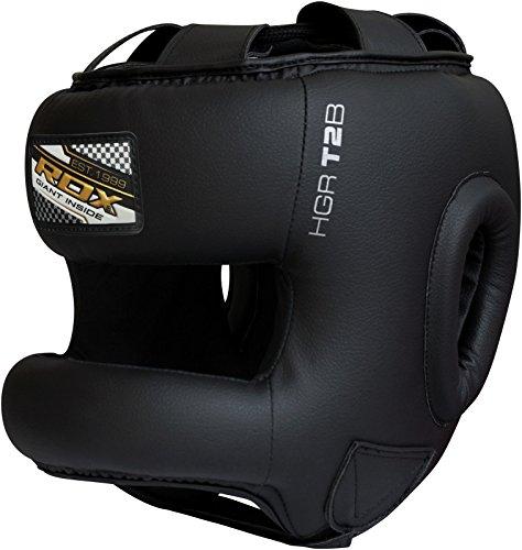 Authentic RDX Cow Hide Leather Pro Boxing Head Guard Face Halmet Protection (XL)