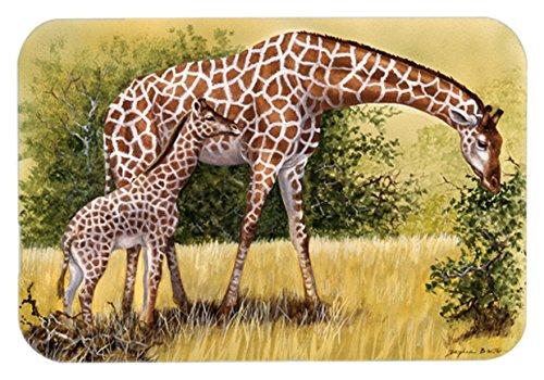 Caroline's Treasures BDBA0309JCMT'Giraffes by Daphne Baxter' Kitchen or Bath Mat, 24' H x 36' W, Multicolor