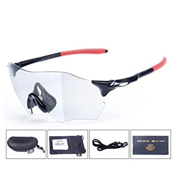 3a42e50ac7 CDSS Cycling Glasses Mens women Discoloration Sports sunglasses Ultralight  frame HD PC Windbreak Eye protection Riding