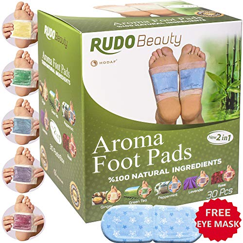 Body Patch Aroma (Foot Pads by Ru-do Beauty | 30 Pcs | Aromatherapy & Body Relief Pads | All Natural & Premium Ingredients | Apply, Sleep & Feel Better | Upgraded 2in1 Design)