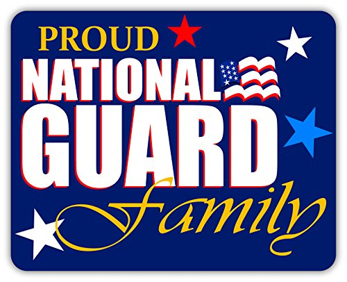 Decal Nationals Family - Proud National Guard Family Army Military Family Armed Forces Patriotic Family Sticker Decal 4x5 inches