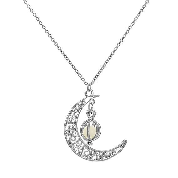 Plata señora collar brillante remolque Collier joyas cadena nuevo