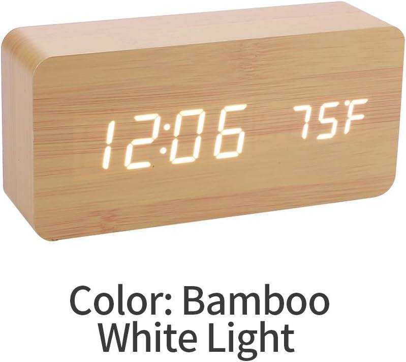 Affichage de la Date,Recharge sans Fil,Commande Vocale,12// 24H R/éveil Num/érique,Reveil Matin,Horloge Digitale,Radio Reveil Enfant,avec /Écran LED,Veilleuse,Temp/érature