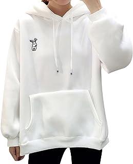 Candy Bunny Felpa/Pullover con Cappuccio/Cime Autunnali/Camicia a Maniche Lunghe/Cappotto Sportivo/Felpa con Cappuccio Felpa per Donna/Ragazza