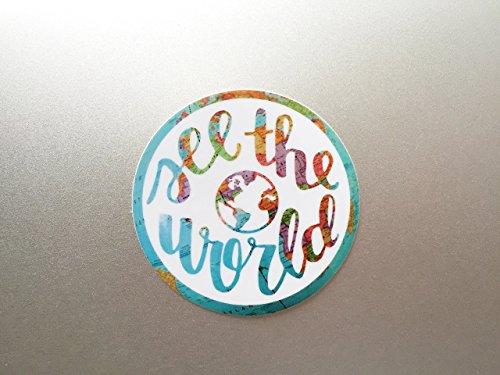 See the World Travel Laptop Sticker