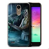 Official Elena Dudina Gel TPU Phone Case / Cover for LG K10 2017/M250N/X400 / Water/Baby Design / Dragon Reptile Collection