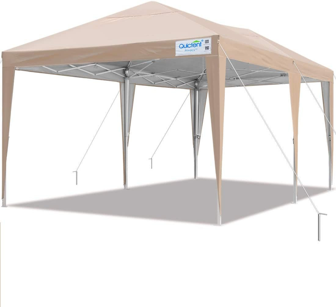 Quictent Privacy 10×20 EZ Pop Up Canopy Tent Party Tent Outdoor Event Gazebo Waterproof