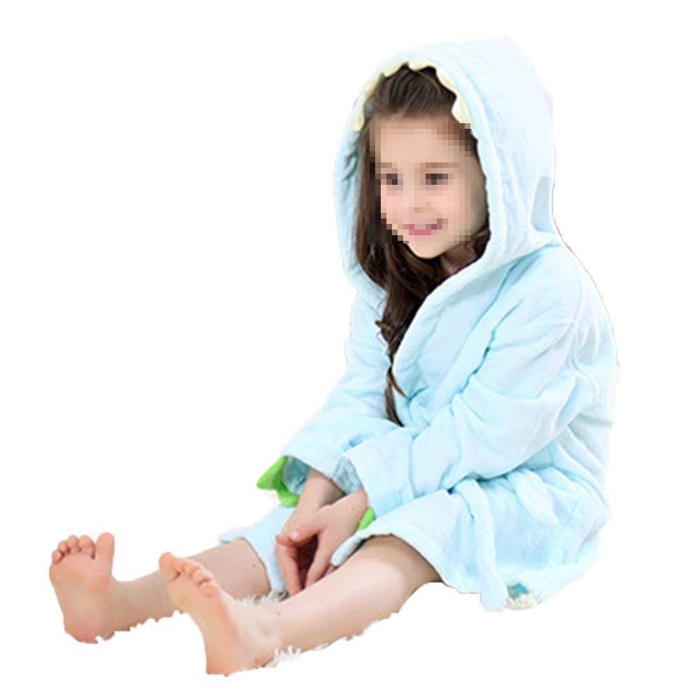 Robe Cotton Towel - Toddler Bathrobe - Kids Animal Dinosaur Style Hooded Bathrobe for Girls Boys ILPjswu