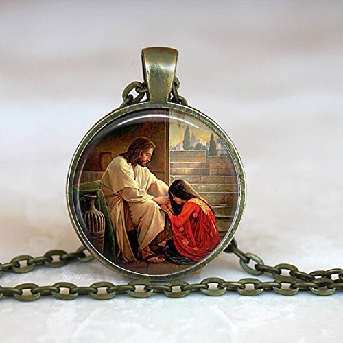 Mary Magdalene Pendant, Catholic Jewelry, Catholic Saint Necklace