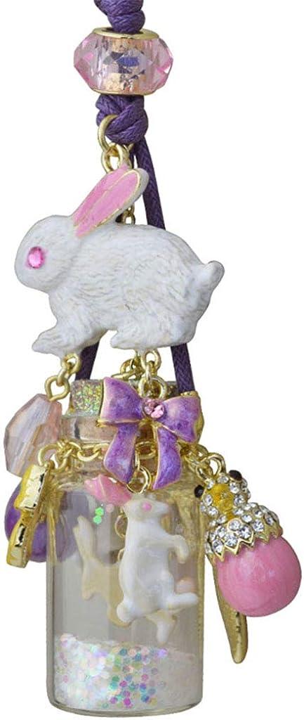 lavender Easter Kirks Folly Run Away Bunny Magnetic Enhancer silvertone