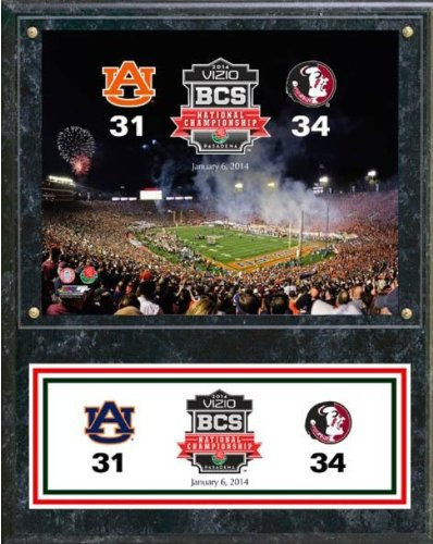 Biggsports 2014 BCS National Championship Florida State Seminoles vs. Auburn Tigers Plaque 15