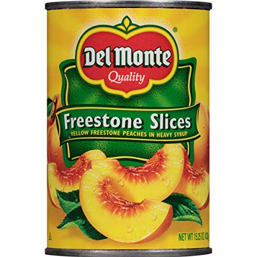 Del Monte Canned California Freestone Sliced Peaches, 15.25-Ounce
