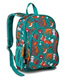 LONECONE Kids' Canvas Preschool Backpack - School Bag for Little Boys and Girls, Campfire Critters