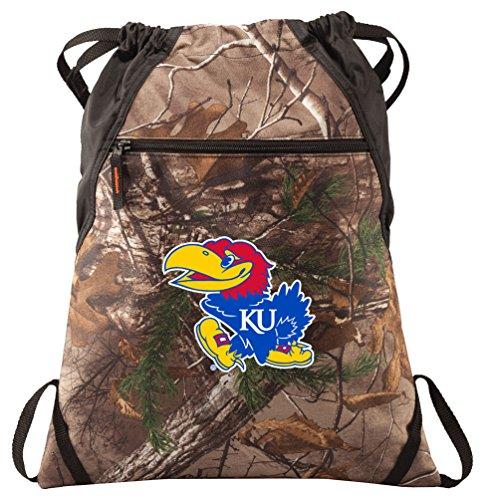 Broad Bay University of Kansas Cinch Pack REALTREE Camo KU Jayhawks Backpack by Broad Bay