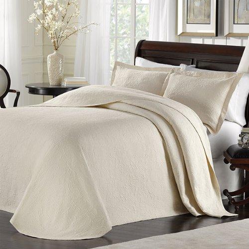 Majestic King Sham - LaMont Home Majestic Matelasse; Bedspread Collection Ivory King Bedspread