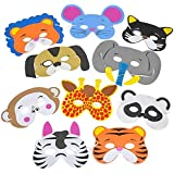 Rhode Island Novelty 1 Dozen 7 Inch - 13 Inch Dress Up Foam Animal Masks