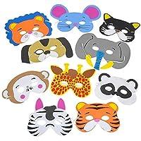 Rhode Island Novelty Foam Animal Masks | Assorted Designs | One Dozen