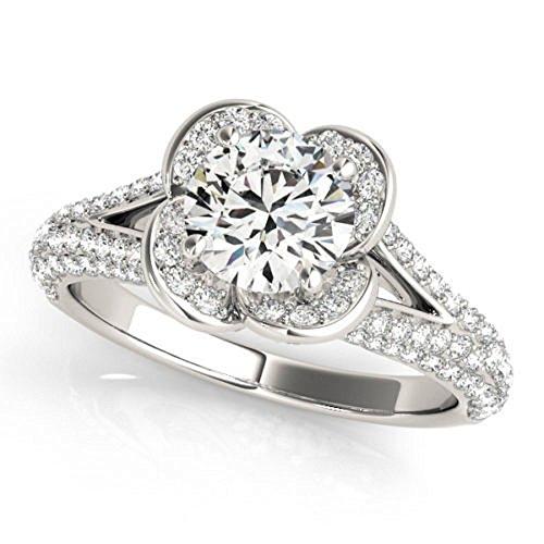 Rare 0.97 ct J-K Moissanite Engagement wedding Ring 925 Sterling Silver by MoissaniteMart