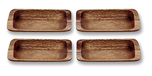 Pacific Merchants Trading Acaciaware Appetizer Trays, 9