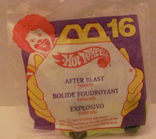 Mattel HOT WHEELS - McDONALD'S Happy Meal TOY CAR - AFTER BLAST - Bag #16 - 1994 / China (Comes in Original UNOPENED Bag) / *For Children Age 3 and Over / May Contain Small Parts*