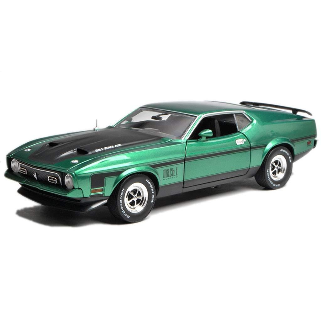 GAOQUN-TOY 1 18 Ford Mustang Mach 1 Muscle Car Simulation Modello di Auto in Lega (colore   verde, Dimensioni   27cm9.5cm7cm)