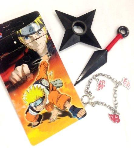 Naruto Anime Cospay 3 PC Set (Kunai, Ninja Star and Bracelet)