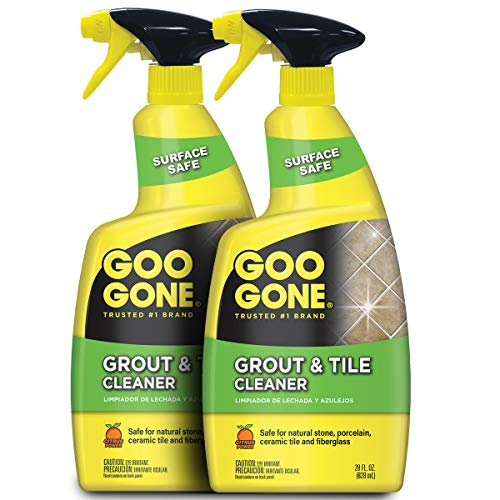Goo Gone Grout and Tile Cleaner - 28 Ounce - Removes Tough Stains Dirt Caused by Mold Mildew Soap Scum and Hard Water Staining - Safe on Tile Ceramic Porcelain