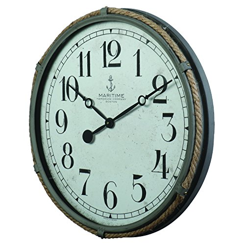 Derby Maritime Decorative Clock, Clock Outdoor Home Decor, Gray