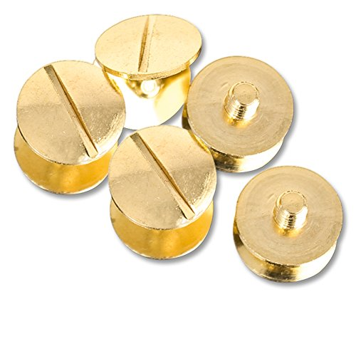 Set Of 5 Gold Replacement Screws For WWE, ROH, TNA, UFC Replica Belts ()