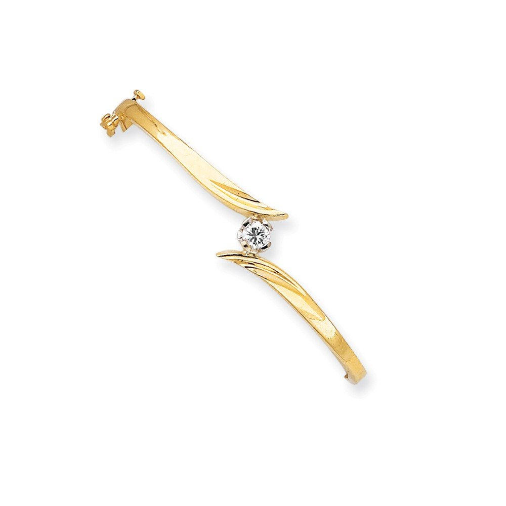 Top 10 Jewelry Gift 14k Two Tone Bangle Bracelet Mounting