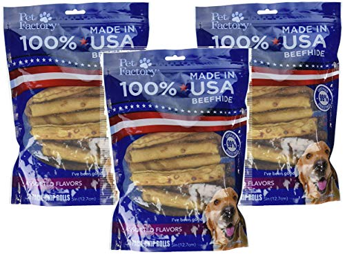 Pet Factory 78117 Assorted Flavored (Beef & Chicken) Chip Rolls 5