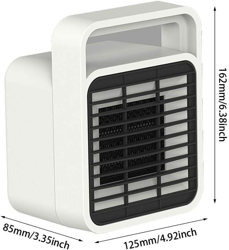WSFF-Fan Ventilador eléctrico Calentador 400 W 2 Segundos Calefacción Calentador portátil Aire Acondicionado PTC Calefacción de cerámica: Amazon.es: Electrónica