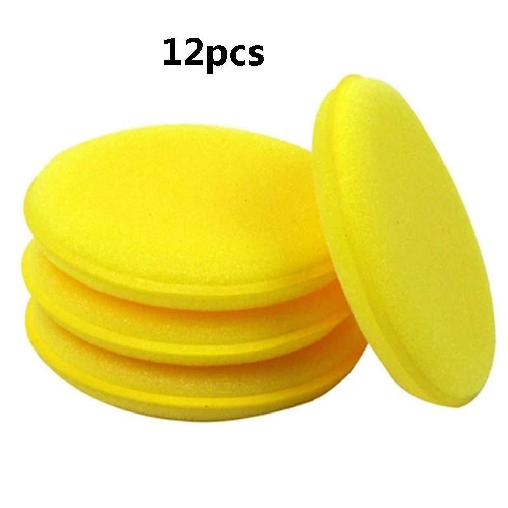 12Pcs Car Waxing Polish Foam Sponge Wax Applicator Cleaning Detailing Pads New