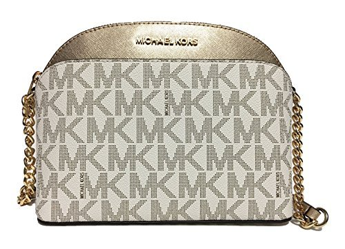 Michael Kors Emmy Medium Crossbody (Vanilla/Pale Gold)