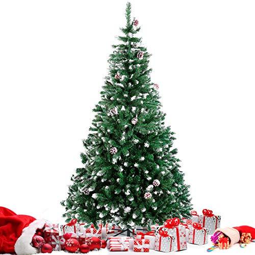 Árbol de Navidad Nevado Artificial PVC Anti-Fuego