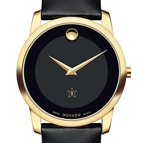 Mens Museum Movado - Vanderbilt Men's Movado Gold Museum Classic Leather