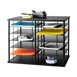 Rubbermaid 12-Slot Organizer, 21W x 11 3/4''''D x 16''''H, Black (1738583)