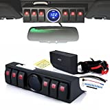 Xprite 6 Rocker Switches Panel Control System Assemblies W/ Wiring Harness & Voltage Display For 2009 - 2017 Jeep Wrangler JK&JKU