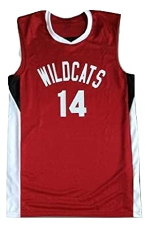 24316a6ba borizcustoms Zac E Troy Bolton 14 East High School Wildcats Red Basketball  Jersey (34)