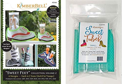 SWEET FEET COLLECTION From Kimberbell NEW SWEET TUBES 2 PACK LARGE SIZE