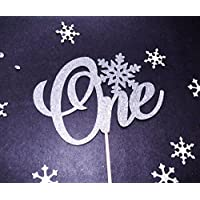 Winter Onederland Cake Topper, 1st Birthday Topper, Snowflake Cake Topper, Little Snowflake Topper